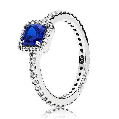 Anillo Elegancia Atemporal Azul Pandora