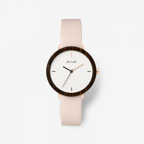 Reloj Mam 636 Ferra Ébano Piel Rosa Mujer