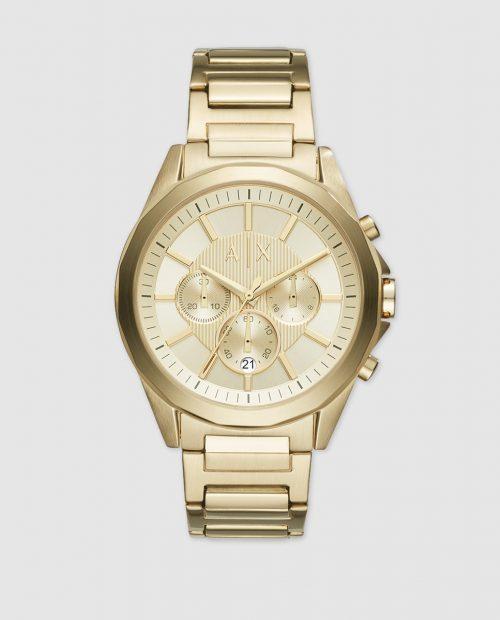 Reloj de hombre Armani Exchange Drexler AX2602 cronógrafo de acero dorado