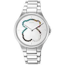 Reloj Motion Straight oso de acero con cristales